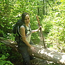 Chaton crosses over deadfall on the AT by johnnybgood in Day Hikers