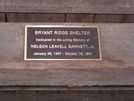 Bryant's Ridge Shelter Plaque by Frau in Virginia & West Virginia Shelters