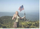 July 4th on summit of Cube Mt, NH by Hammock Hanger in Views in New Hampshire