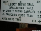 SIgn to Liberty Springs by Hammock Hanger in Trail & Blazes in New Hampshire