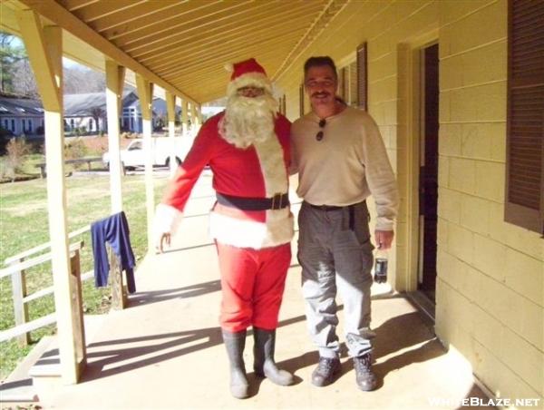 Santa visits Franklin, NC
