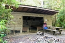 Flint Mountain Shelter by SmokyMtn Hiker in North Carolina & Tennessee Shelters