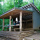 Sassafras Gap Shelter by SmokyMtn Hiker in North Carolina & Tennessee Shelters