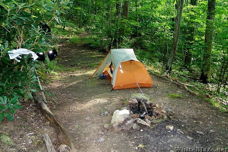 Campsite at mile marker 265.3