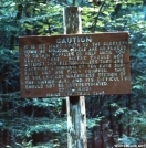 Sign at north end of 100-mile