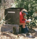 Outhouse at Jerry Cabin shelter
