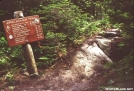 Sign on Old Speck, Maine, 1983
