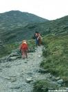 Young hikers climbing Mt. Washington