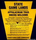 Pennsylvania Game Commission sign