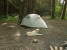 Laurel Fork Falls Campsite by Mercy in Other Trails