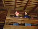 Number One and Speed Racer in the Springer loft by Bulldawg in Springer Mountain Shelter