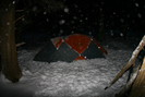 Snowy Night At Camp by hutnons in Tent camping