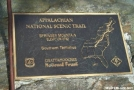 Southern Terminus Marker by Mountain climber in Sign Gallery