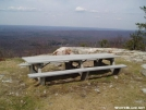picnic table underneath fire tower by cabalot in Views in New Jersey & New York