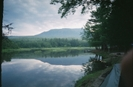 Looking At Katahdin From Abol Bridge Campground