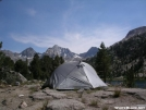 Double Rainbow at Rae Lakes by MedicineMan in Tent camping