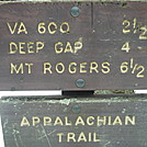 Trail sign near Whitetop summit
