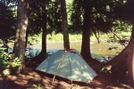 Tent Alongside Beaver R. by IceAge in North Country NST