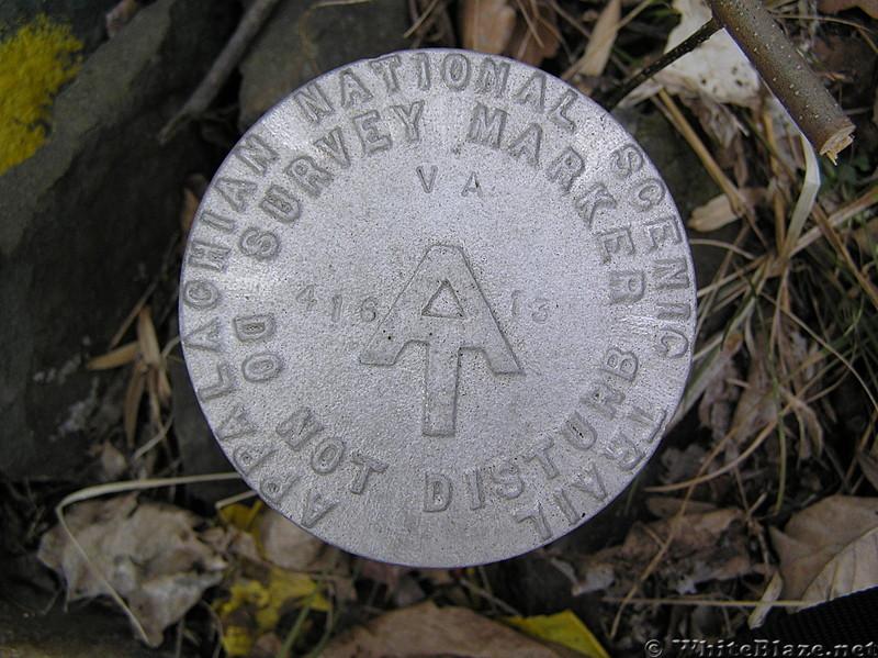 survey marker 416-va-13 detail