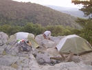 Tenting On Crescent Rock by dudeijuststarted in Section Hikers