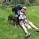 Derreck Terrail, Dog's best friend by Chrissy K. McVay in Thru - Hikers