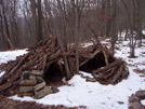 Primitive Debris Shelter Near Pa 309 by ~Ronin~ in Special Points of Interest