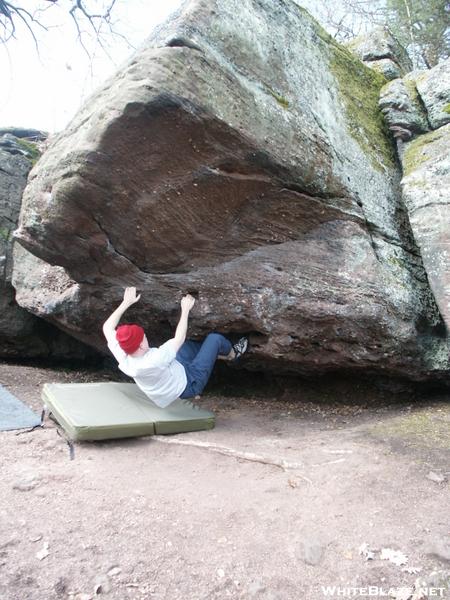 Bouldering In Felsenmeer, Near Druckheim, Germany
