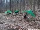 Peter Pan, Smee & Just Plain Jack Campsight vic Lambert\'s Meadow by Smee in Hammock camping