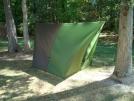 JRB 11 x 10 Cat Tarp by Smee in Hammock camping