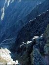 Looking Down Ravine On Knifes Edge Trail On Mt. Katahdin