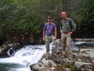 Pickle and Garlic (the Deli Duo) at Dismal Falls by garlic08 in Thru - Hikers