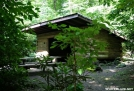 Flint Mtn Shelter by Tripod in North Carolina & Tennessee Shelters