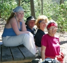 Kaitlin, Mickey One Sock, Woody, GG by Tripod in Thru - Hikers