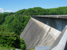 2009-0512c Fontana Dam by Highway Man in Views in North Carolina & Tennessee