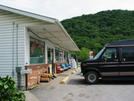 2009-0611a Trent's Grocery Store by Highway Man in Virginia & West Virginia Trail Towns