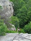 2009-0705d Rock Climbing Spot Near Va&wv Border by Highway Man in Views in Virginia & West Virginia