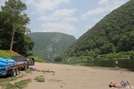 2010-0626a Delaware Water Gap by Highway Man in Views in New Jersey & New York