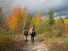 2009-1005f Firefly &  Dave From Matc At Katahdin State Park Boundary by Highway Man in Thru - Hikers