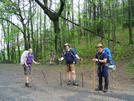 2009-0503c Firefly, Hailstones, Slacka$$ & Pat At Tesnatee Gap by Highway Man in Thru - Hikers