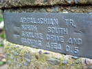 Trail Marker For AT And Bearfence Summit by hikingfieldguide in Trail & Blazes in Virginia & West Virginia