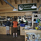 Inside Madison Hut by Frog in Madison Springs Hut