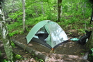 Camp Site by Frog in North Carolina & Tennessee Shelters