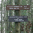 Trail Markers For James Fry Shelter, PA, 12/30/11
