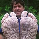 Soggy trip means soggy feet.