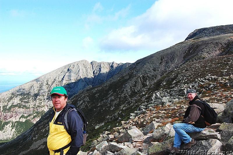 dayhiking on Baxter Peak