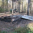 Toms Run burned Shelter - 18 Oct 13