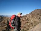 David Climbing Towards Fountain Peak