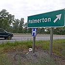 Highway Sign Along PA 248 for Palmerton, Pennsylvania