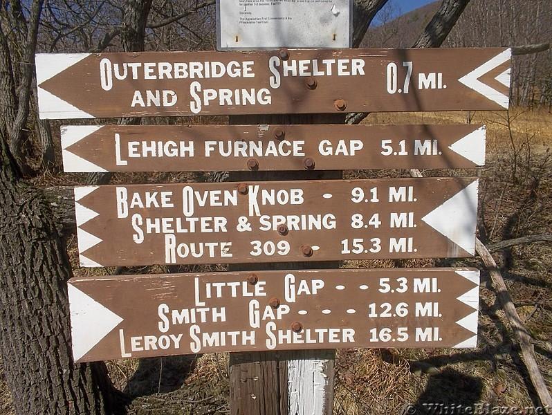 AT Sign at Lehigh Gap, PA