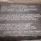 Sign Inside Rausch Gap Shelter in Pennsylvania